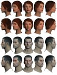 Mass Effect 2, Female and Male Shepard Scars. by Troodon80