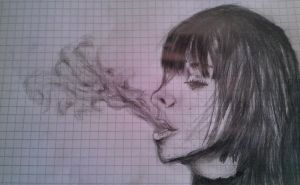 Girl smoking by KnufflPuffl