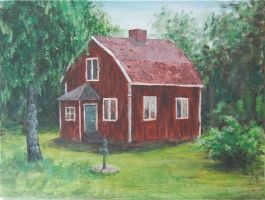 A red little cottage by Safirah