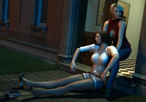 Rachel drags Amanda inside by Torqual3D