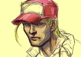Terry Bogard sketch by rook-over-here