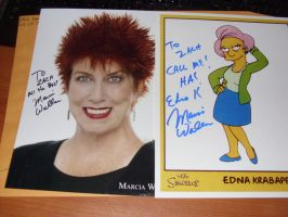Marcia Wallace -- autograph by BeyondtheThunderdome