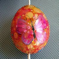 Hand Painted Butterfly Egg 2 by MandarinMoon