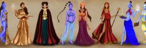 Female Heroes of Tower with full outfits by BasakTinli
