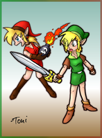 Female Links by bot-chan