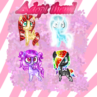 Chibi adoptables! CLOSED! YAY by Sweet-Forest-Adopts