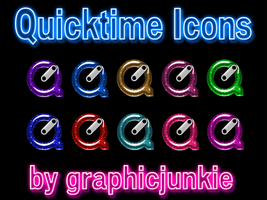Quicktime Glitter Glass Icons by graphicjunkie