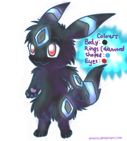 Point Commission 7: Umbreon OC Reference by Eevora