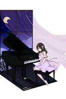 TM- Midnight Piano by SweetieMoon