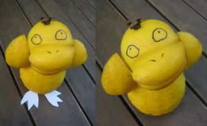 PSYDUCK MADE OF LEMONS by lady-leliel