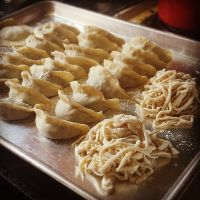 dumplings and noodles. by sorekara