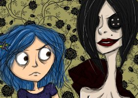 Coraline and the other mother by xLifeIsArt