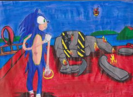 SONIC AFTER BATTLE by djjafeth
