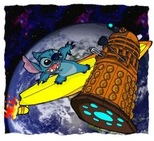 Stitch vs. The Dalek pt. 2 by andy-pants
