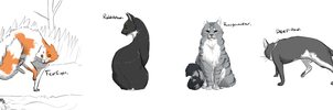 Warrior Cat OCs by Qanat