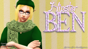 Hipster BEN #2 - The Sims 2 Fan-Art by MunirBinJulaihi