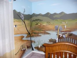 African Theme Mural for Nursery by SYoshiko