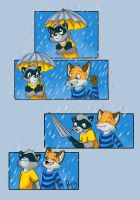Enjoy the rain by pandapaco