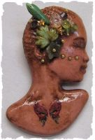 Butterfly Goddess Polymer Pin by wildhorse63