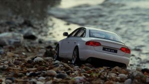 Audi A4 on a seashore by 5-G