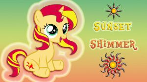 Wallpaper Filly Sunset Shimmer iMac 2560 x 1440 by Barrfind