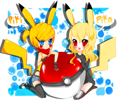 Piki and Pika by CrystalSugarStars
