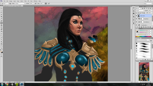 Guild Wars 2 Elementalist Portrait WIP by jessparry