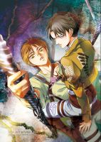 Eren and Levi by moonu17
