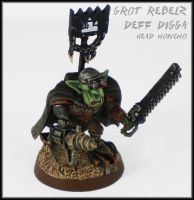 Grot Rebelz Deff Digga Head Honcho by Proiteus