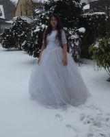 White dress in Snow Stock 1 by NaomiFan