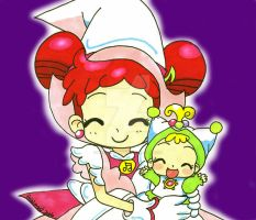 Doremi and Baby Hana by YuniNaoki