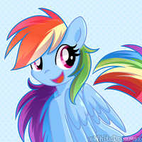 Rainbow cute dash by xWhiteDreamsx