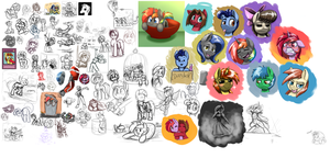 Doodles And Sketches by otakuap