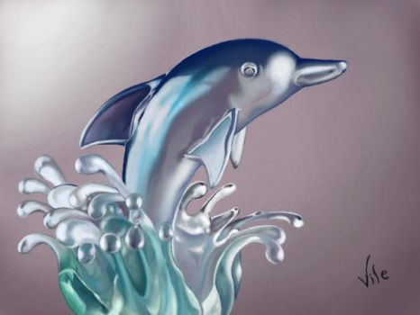 Glass Dolphin by Nicolevile