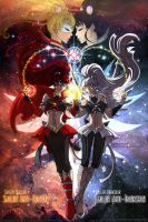 Comm: Anti-Senshi - Quasar and Darkstar by Lucithea