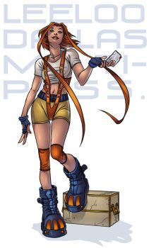Pinup Leeloo by ChateNoire
