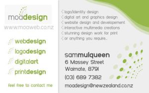 Moa Design business card back by sumopiggy