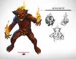 DnD - Monster Manual - Magmin by tomafeizogas