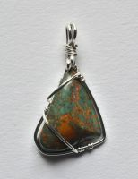 Dark Turquoise Pendant by lamorth-the-seeker