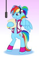 Rainbow Dash'n by Wazaga