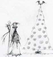 Jack, Sally and Pumpkin Tree by YuiHarunaShinozaki