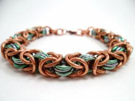 Copper and Mint Byzantine by SerenityinChains
