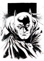 Batman pre Con doodle - Indiana Comic Con 2015 by aethibert