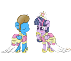Blaine And Princess Twilight play dress-up by RarityLuver214