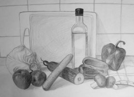 Kitchen still life by PrincessNami