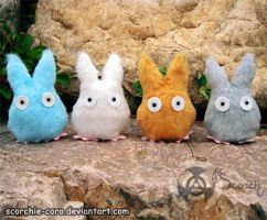 """Totoro"" Plushies by Scorchie-Critter"
