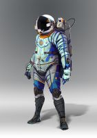 Space suit concept1 by AlexTzutzy