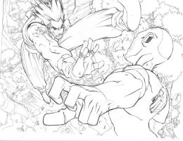 Vegeta V Freeza fool by can-i-bus