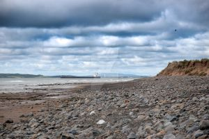 tanker at rocky beal beach by morrbyte