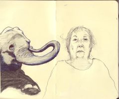 Grandma and Elephant by EnDersTruTH